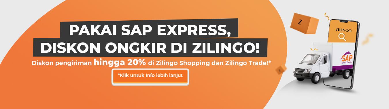 diskon ongkir pengiriman sap di zilingo shopping dan zilingo trade